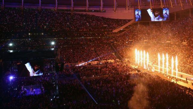 """На стадион """"Тоттенхэма"""" пришли около 70 тысяч зрителей"""