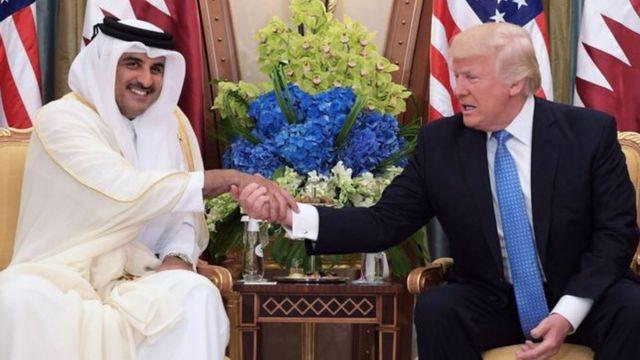 ترامپ امیر قطر
