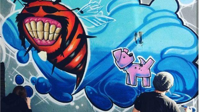 Slikanje murala u Brčkom