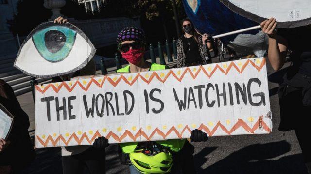 Демонстранты в Вашингтоне