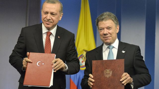 Erdogan y Santos