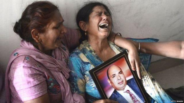 इराकमध्ये मृत झालेल्या भारतीयांचे नातेवाईक