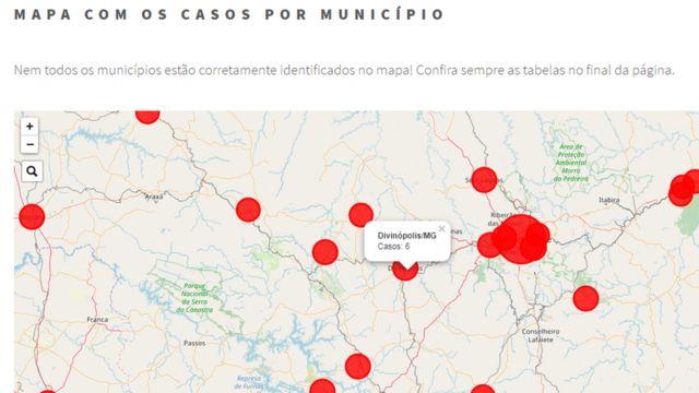 Mapa de Wesley Cota