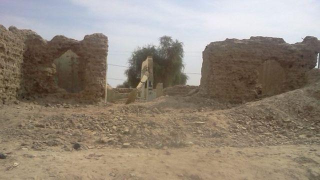 Los escombros de un santuario destruido