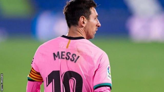 Barcelona coach Koeman: Messi not at his best this season