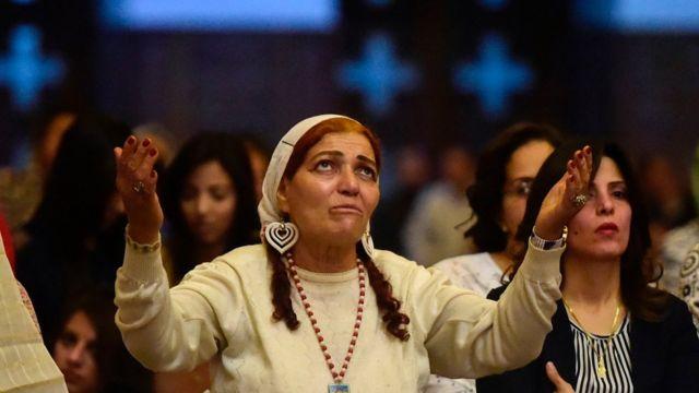 Misa pia zilifanyika katika kanisa la Coptic nchini Misri
