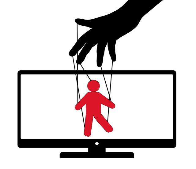 Ilustração de fantoche para simbolizar manipulação