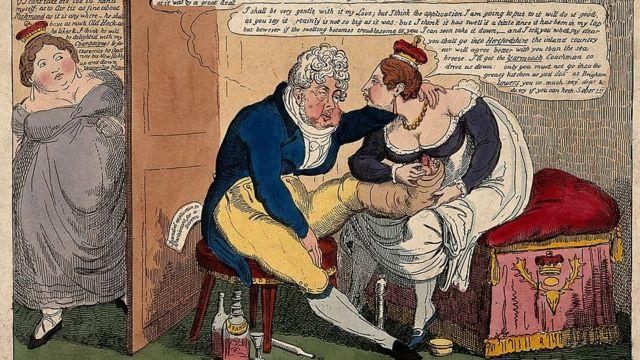 Карикатура на Георга IV