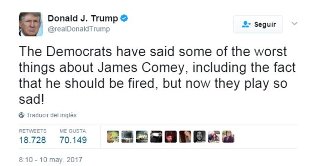 Tuit de Trump.