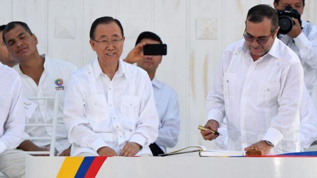Ban Ki Moon en Colombia