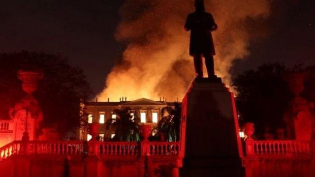 حريق متحف البرازيل