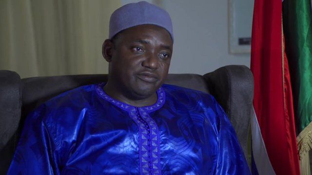 President-elect of The Gambia Adama Barrow in interview with the BBC