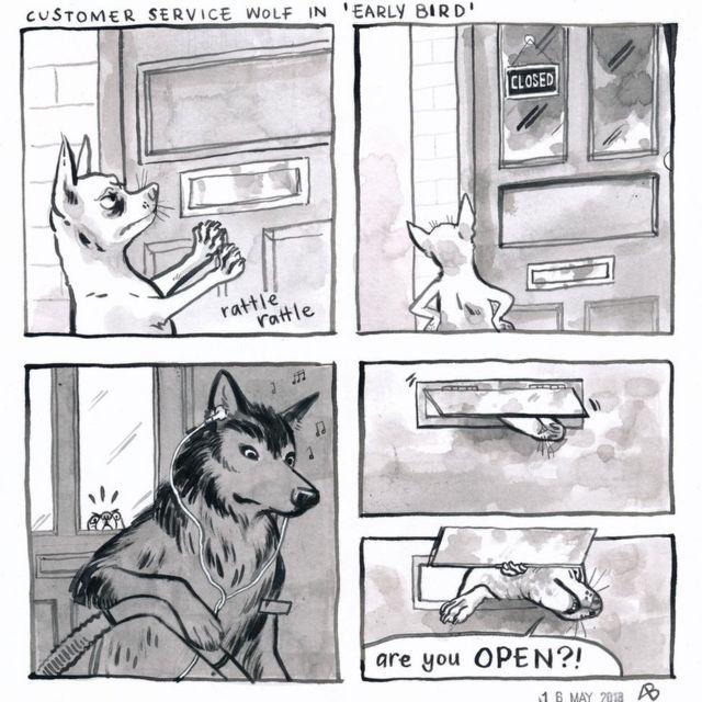 How a bookshop wolf handles awkward customers