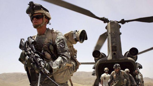Afganistan'da görev yapan ABD askerleri.