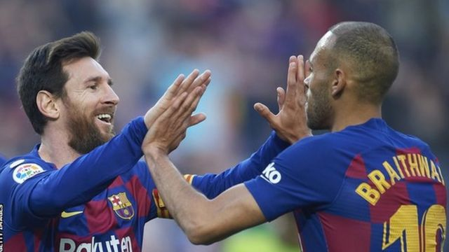 Lionel Messi na Martin Braithwaite