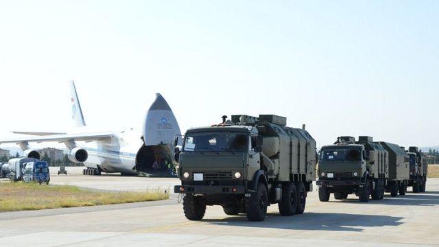 S-400 bataryalarının Türkiye'ye teslimatı