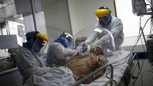 Paciente de covid colombiano