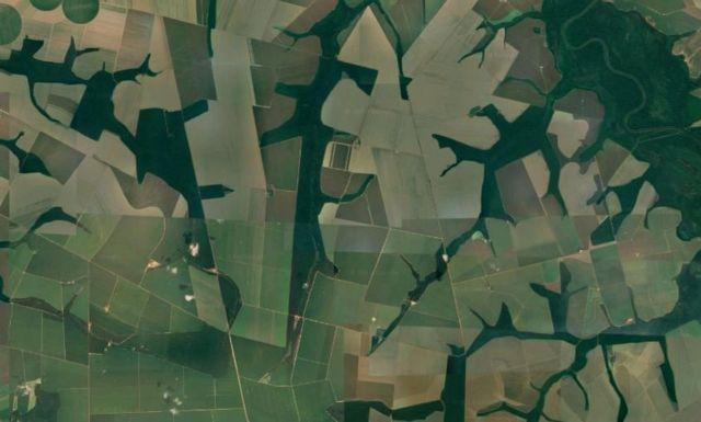 Fazendas de grãos em Sorriso, no Mato Grosso