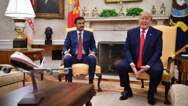 Rais Donald Trump alimualika Emir wa Qatar Sheikh Tamim Al Thani katika Ikulu ya Whitehouse mwaka uliopita