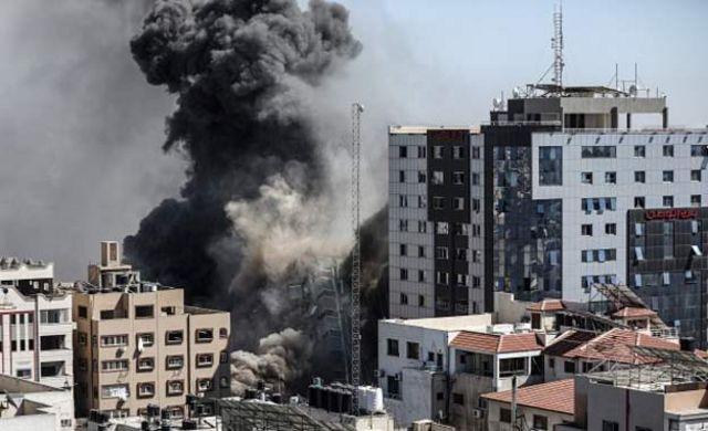 Gantaallo ay Israa'iil la beegsatay dhismaha Gaza