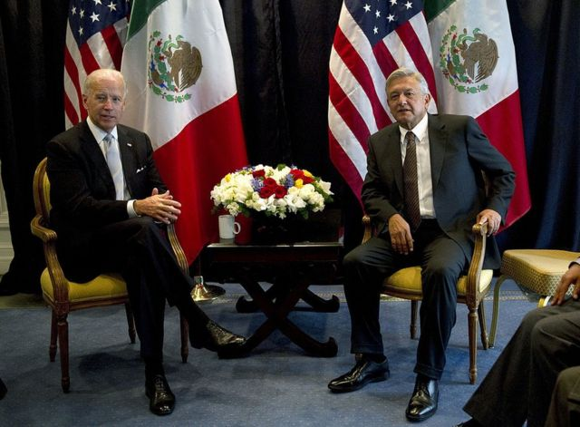 Joe Biden y López Obrador en 2012