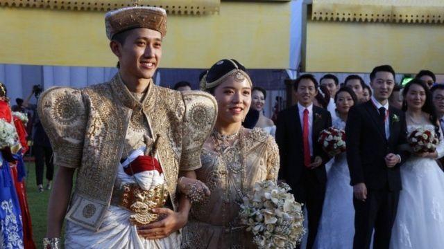 કોલંબોમાં યોજાયેલા લગ્ન સમારંભનું એક દ્રશ્ય