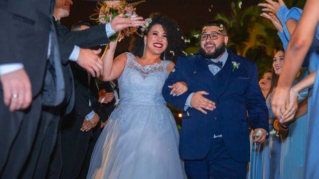 Kathleen e Victor durante o casamento