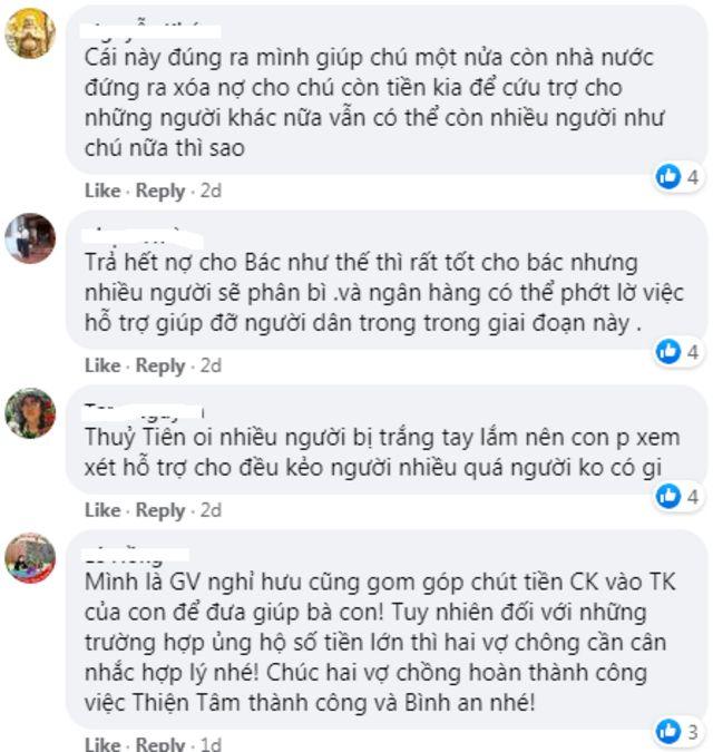 Bình luận về việc Thủy Tiên trao 200 triệu cho ông cụ trả nợ ngân hàng.