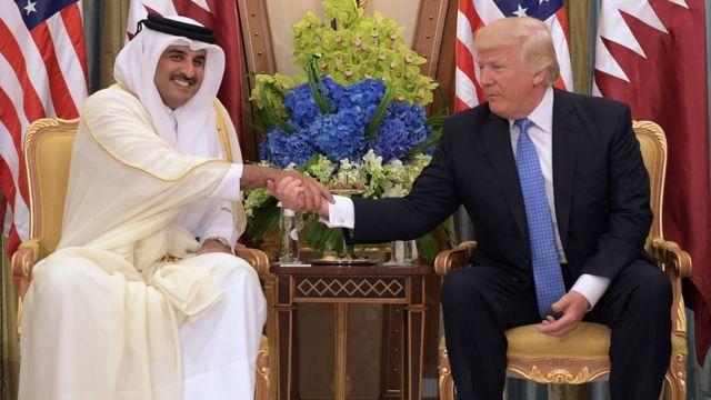 ترامپ و شیخ تمیم بن حمد آل ثانی