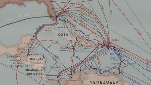 Pie: Hoy día, decenas de cables viajan entre países centroamericanos y del Caribe.