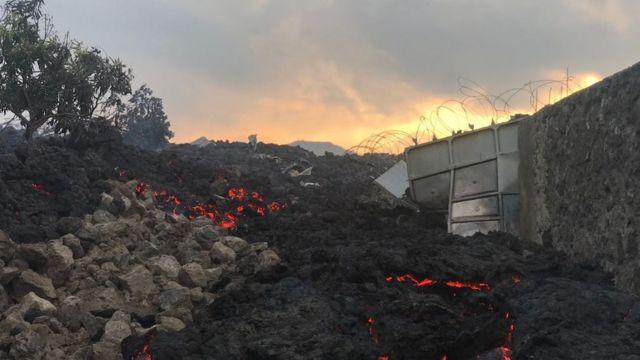 Daños provocados por el volcán