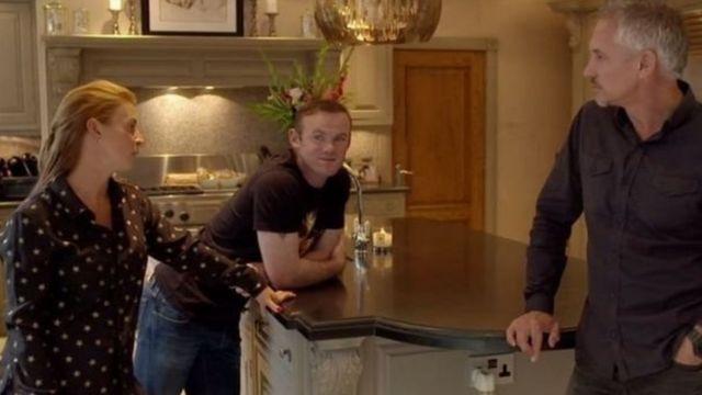 Wayne Rooney da Matarsa a wani shirin BBC a cikin gidansu