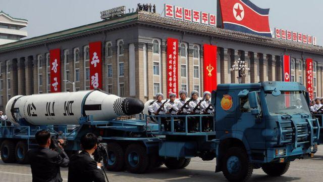 उत्तर कोरिया की पुकुकसांग मिसाइल.