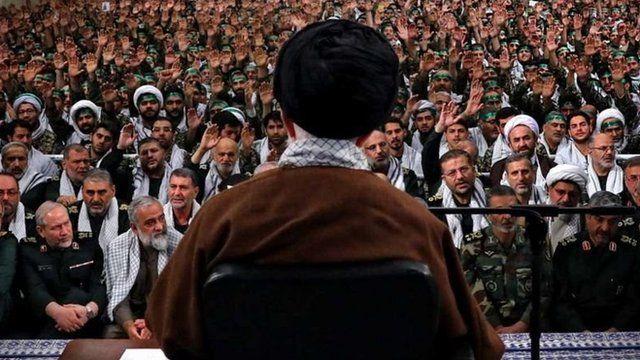رهبری جمهوری اسلامی و فرماندهان سپاه
