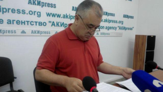 """""""Ата Мекен"""" фракциясынын лидери Өмүрбек Текебаев"""