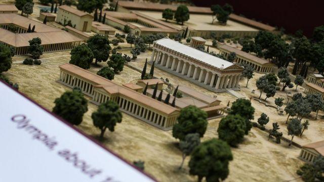 Réplica de la ciudad griega de Olimpia 100 a. C.