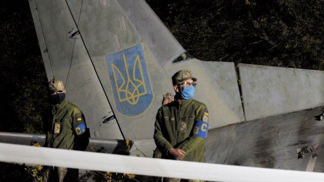 Фото з місця падіння літака