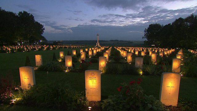 War cemetery in France