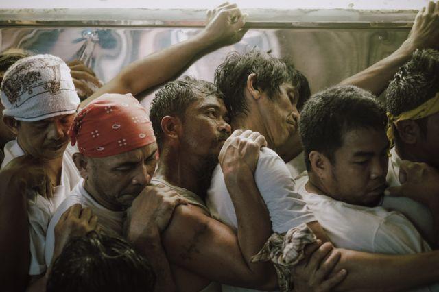 Men in a religious procession