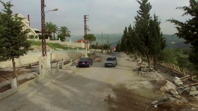 Temer Street in the village of Btaaboura in Lebanon