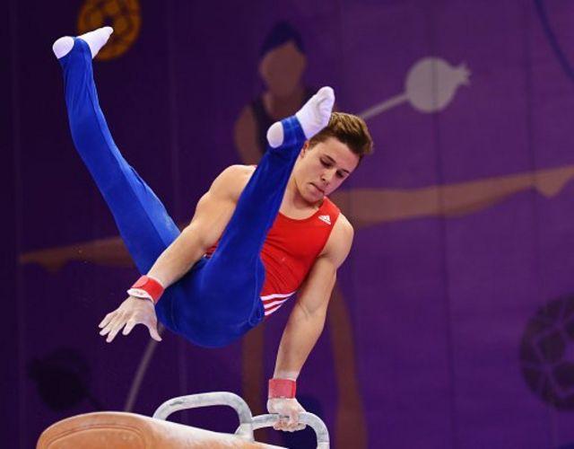 Brinn Bevan, GB men's gymnastics silver medallist