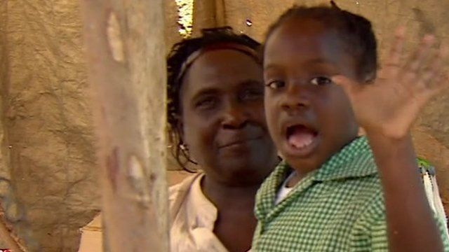 Woman and child in Jamaica