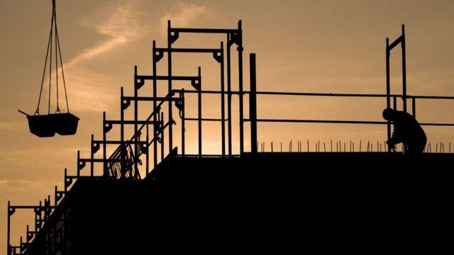 Edificio en construcción en Alemania.