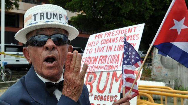 2017年,支持特朗普的古巴移民