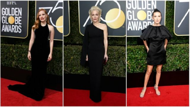 Jessica Chastain, Gillian Anderson and Millie Bobby Brown