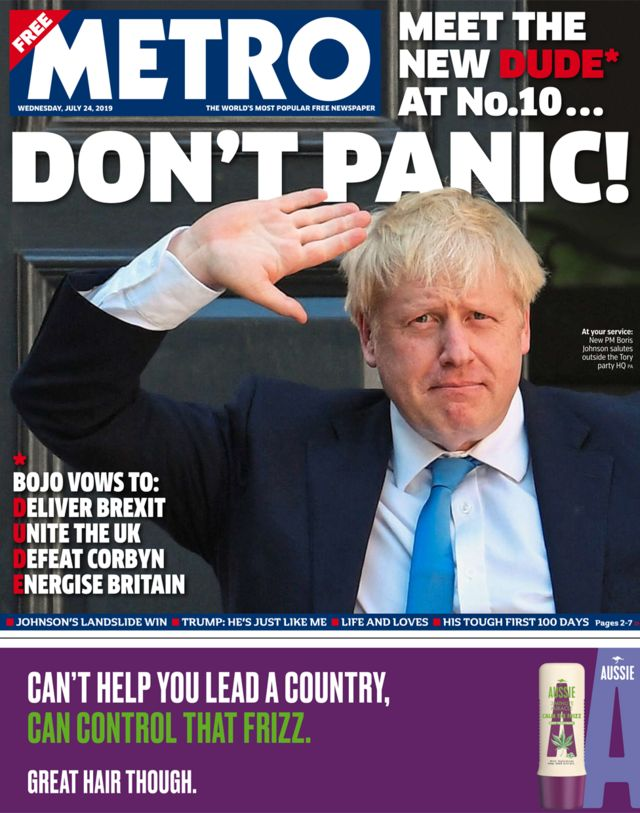 Newspaper headlines: Here comes Boris - the new 'dude' at No 10