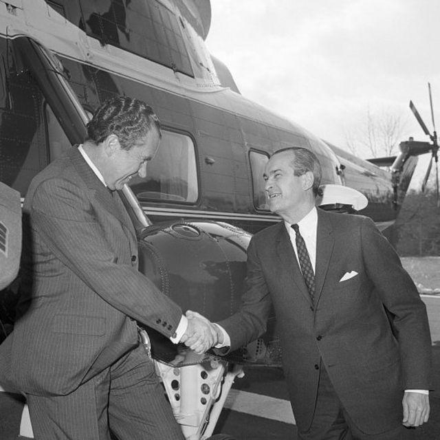 在约翰逊总统和尼克松总统任期内担任中情局局长的理查德·赫尔姆斯