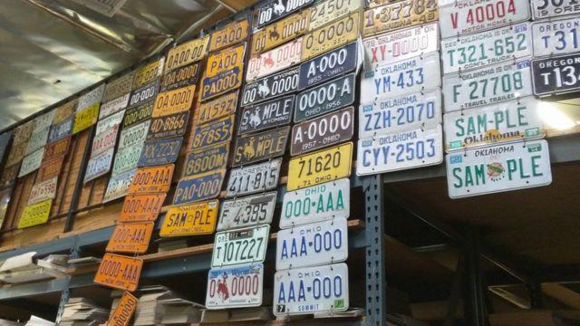 Placas de vehículos
