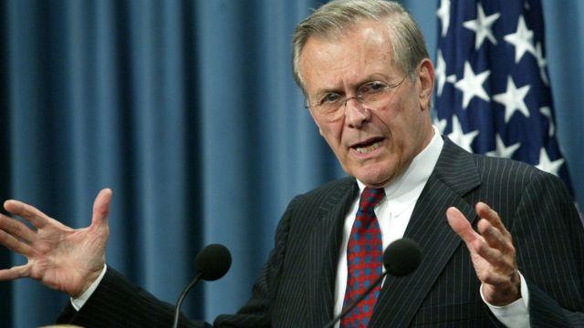 Donald Rumsfeld từng hai lần làm bộ trưởng quốc phòng Mỹ