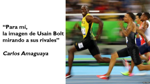 Usain Bolt corriendo